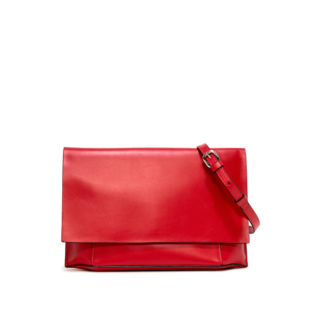 GIANNI CHIARINI: LARGE SIZE CLUTCH BAG COLOR RED