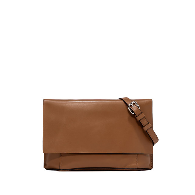 GIANNI CHIARINI: MEDIUM SIZE CLUTCH BAG COLOR BROWN