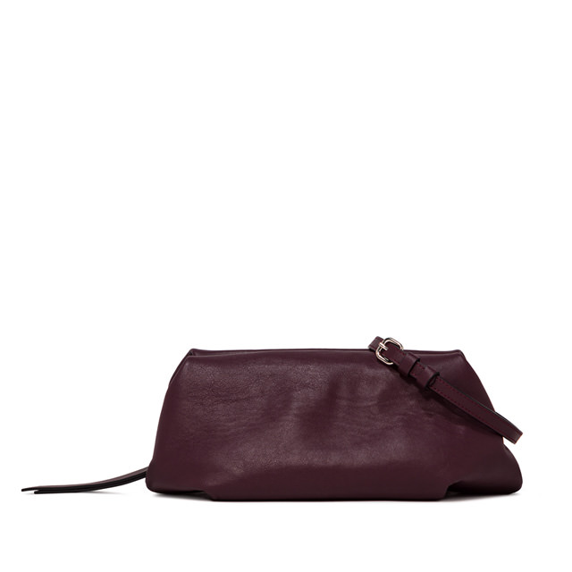 GIANNI CHIARINI: MEDIUM SIZE COLETTE CLUTCH BAG COLOR BURGUNDY