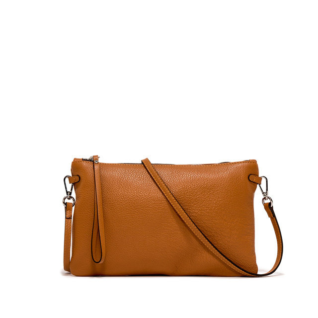 GIANNI CHIARINI: HERMY  LARGE ORANGE CLUTCH BAG
