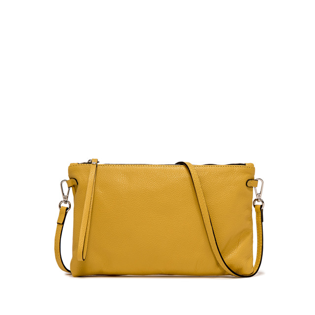 GIANNI CHIARINI: HERMY  LARGE YELLOW CLUTCH BAG