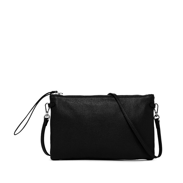 GIANNI CHIARINI HERMY LARGE BLACK CLUTCH BAG