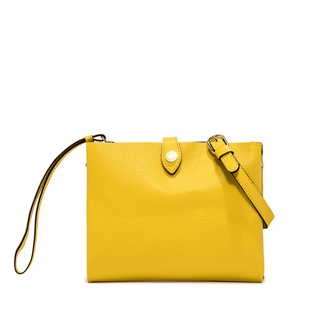 GIANNI CHIARINI: PALOMA MEDIUM YELLOW CLUTCH BAG