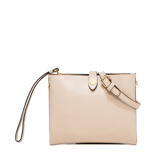 GIANNI CHIARINI PALOMA MEDIUM NUDE CLUTCH BAG