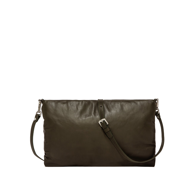 GIANNI CHIARINI POCHETTE PIUMA SUPERSOFT MEDIUM VERDE