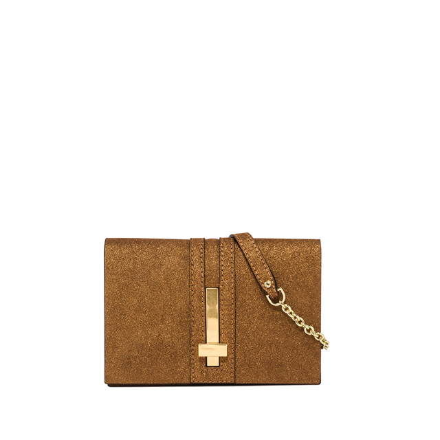 GIANNI CHIARINI MEDIUM SIZE PREZIOSA CLUTCH BAG COLOR BRONZE