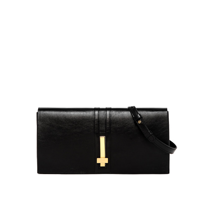 GIANNI CHIARINI PREZIOSA MEDIUM BLACK CLUTCH BAG