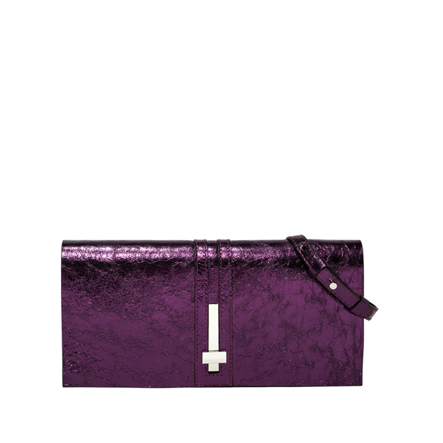 GIANNI CHIARINI MEDIUM SIZE PREZIOSA CLUTCH BAG COLOR VIOLET