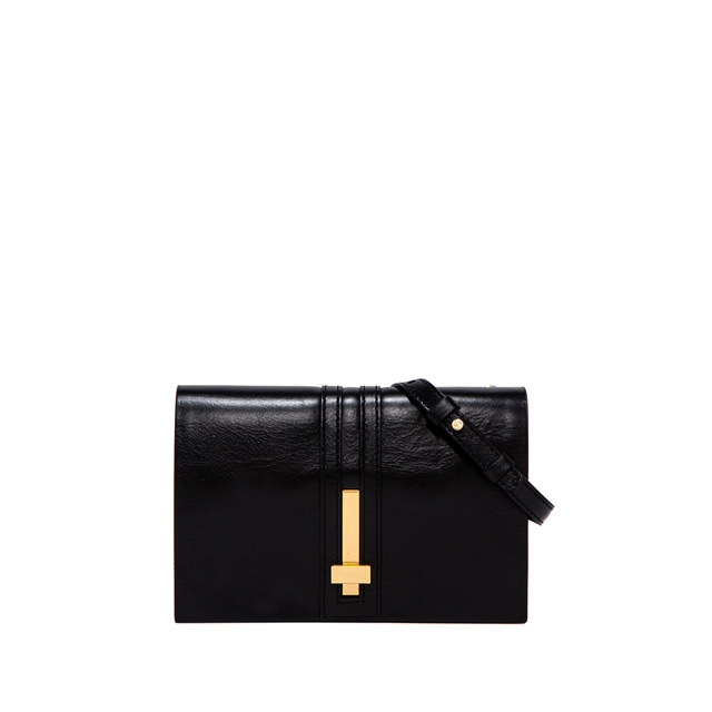 GIANNI CHIARINI SMALL SIZE PREZIOSA CLUTCH BAG COLOR BLACK