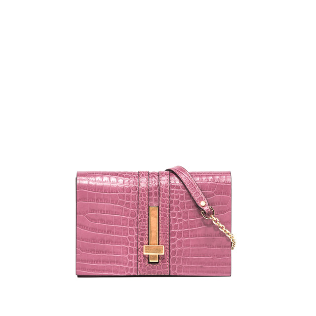 GIANNI CHIARINI SMALL SIZE PREZIOSA CLUTCH BAG COLOR PINK