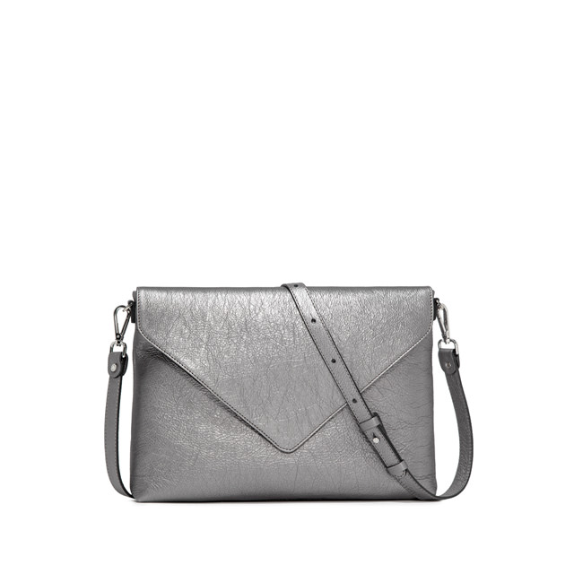 GIANNI CHIARINI VICTORIA MEDIUM  SILVER CLUTCH BAG