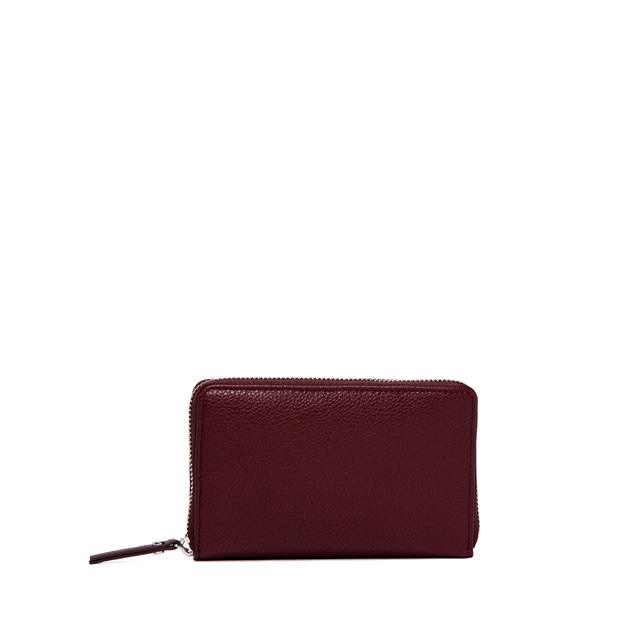 GIANNI CHIARINI: WALLET  ESSENTIAL  OASI  MEDIUM  BURGUNDY