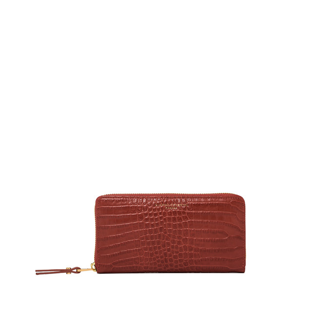 GIANNI CHIARINI: LARGE SIZE ESSENTIAL WALLET COLOR ORANGE