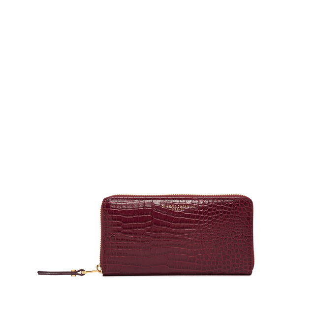 GIANNI CHIARINI: LARGE SIZE ESSENTIAL WALLET COLOR BORDEAUX
