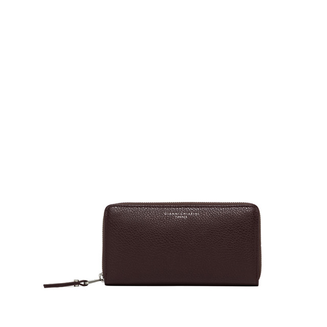 GIANNI CHIARINI: LARGE SIZE ESSENTIAL WALLET COLOR BROWN