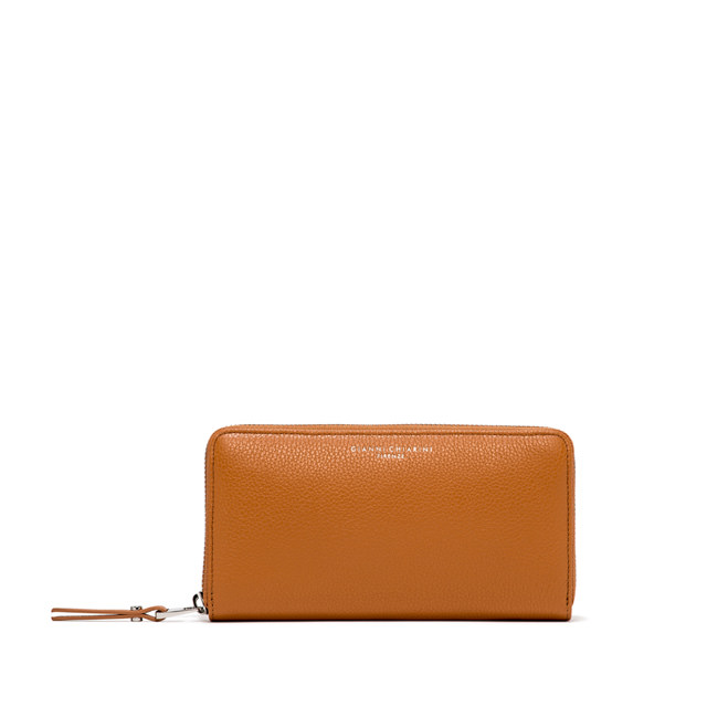GIANNI CHIARINI: WALLET ESSENTIAL OASI LARGE COLOR ORANGE