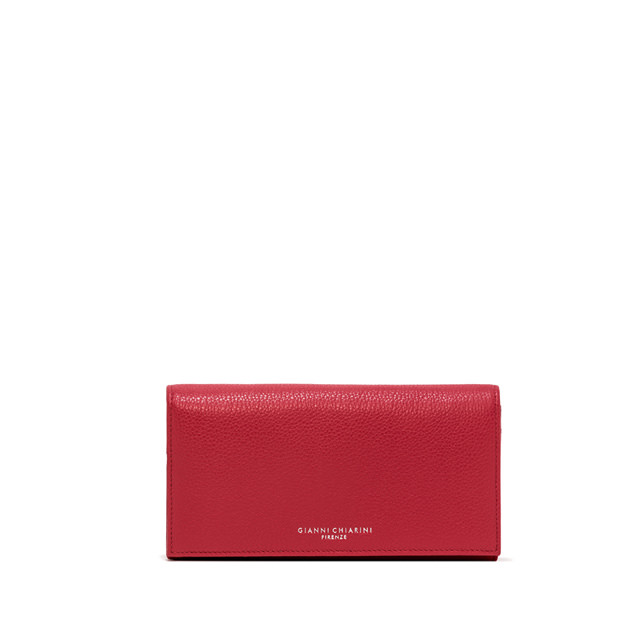 GIANNI CHIARINI: WALLET ESSENTIAL OASI LARGE COLOR FUCSIA