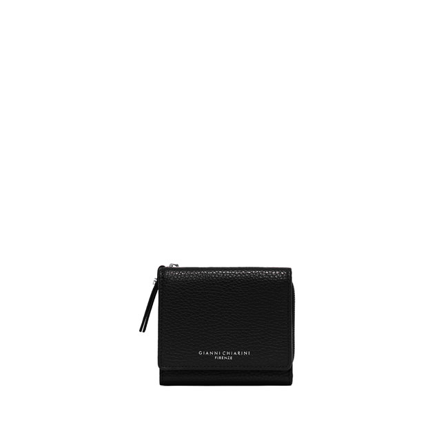 GIANNI CHIARINI MEDIUM SIZE ESSENTIAL ZIP WALLET COLOR BLACK
