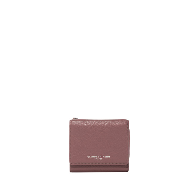 GIANNI CHIARINI MEDIUM SIZE ESSENTIAL ZIP WALLET COLOR PINK