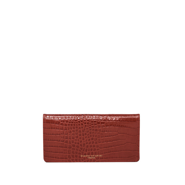 GIANNI CHIARINI LARGE SIZE GRETA WALLET COLOR RED
