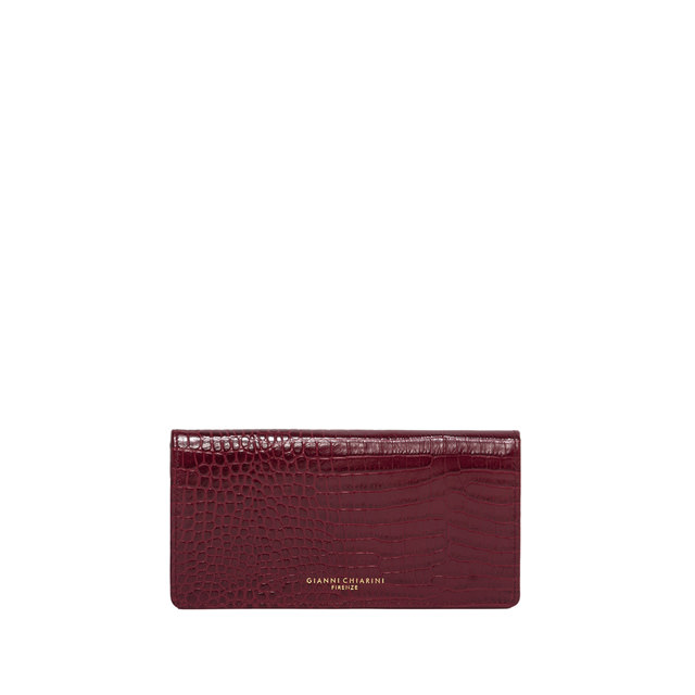 GIANNI CHIARINI: LARGE SIZE GRETA WALLET COLOR BORDEAUX