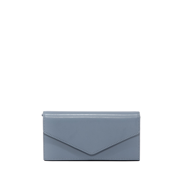 GIANNI CHIARINI: GRETA LARGE LIGHT BLUE WALLET