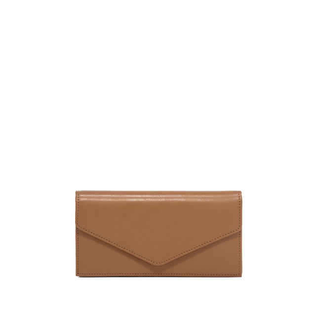 GIANNI CHIARINI: GRETA LARGE BROWN WALLET