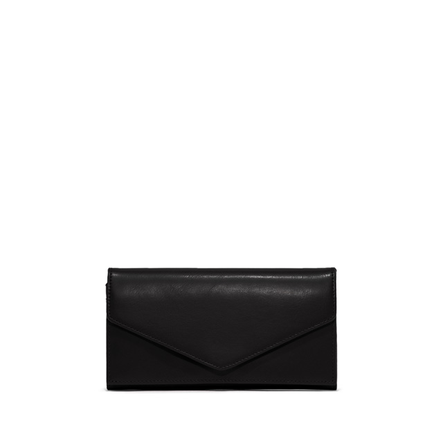 GIANNI CHIARINI: GRETA LARGE BLACK WALLET
