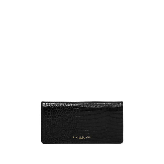 GIANNI CHIARINI LARGE SIZE GRETA WALLET COLOR BLACK