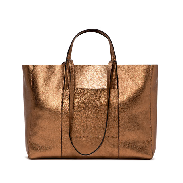 GIANNI CHIARINI SUPERLIGHT LARGE BRONZE SHOPPING BAG