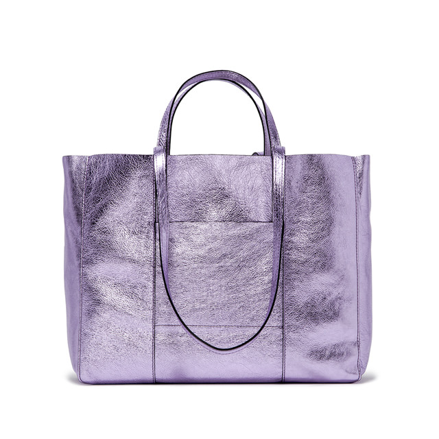 GIANNI CHIARINI SUPERLIGHT LARGE LILAC SHOPPING BAG