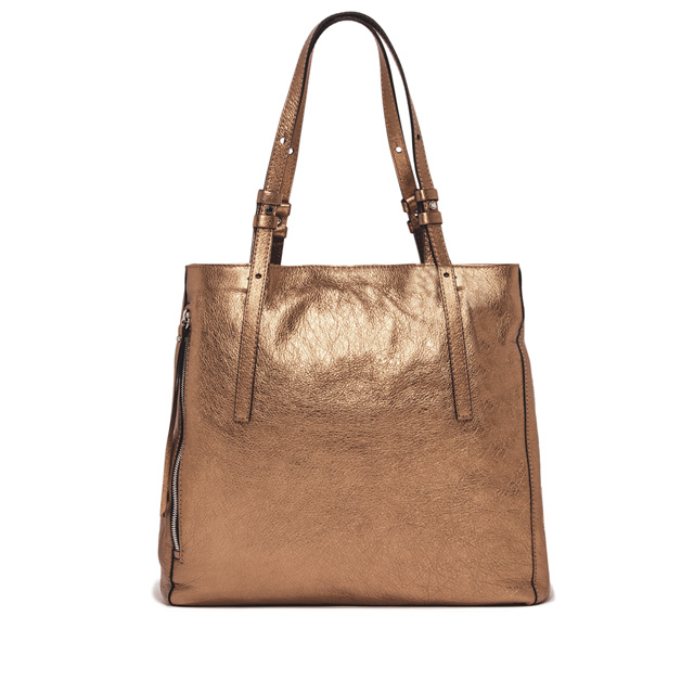GIANNI CHIARINI: TWIN LARGE BRONZE SHOPPING BAG