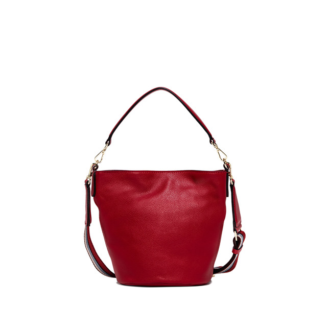 GIANNI CHIARINI: JACKIE  NEW  MEDIUM  RED  BUCKET  BAG