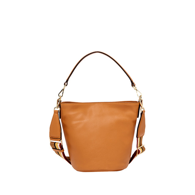 GIANNI CHIARINI: MEDIUM SIZE JACKY BUCKET BAG COLOR ORANGE