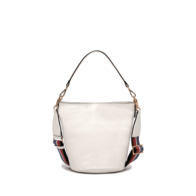 GIANNI CHIARINI: MEDIUM SIZE JACKY BUCKET BAG COLOR WHITE