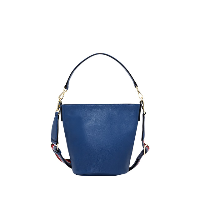 GIANNI CHIARINI: MEDIUM SIZE JACKY BUCKET BAG COLOR BLUE