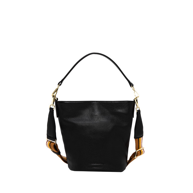 GIANNI CHIARINI: MEDIUM SIZE JACKY BUCKET BAG COLOR BLACK