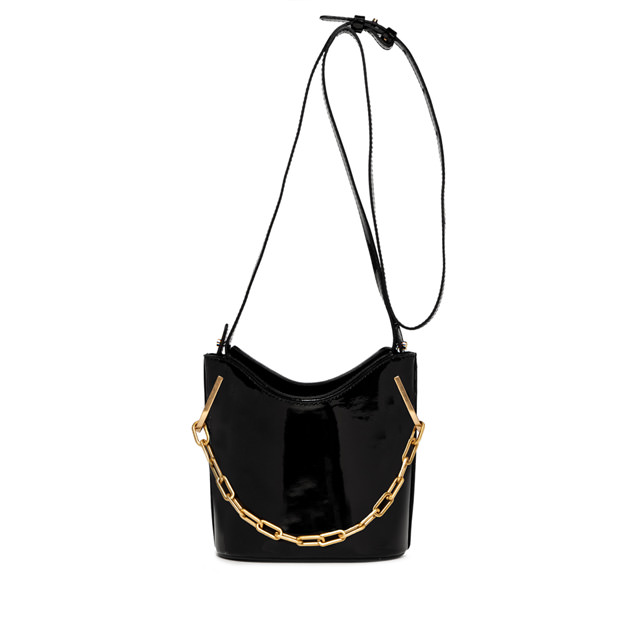 GIANNI CHIARINI SOPHIA MEDIUM BLACK BUCKET BAG