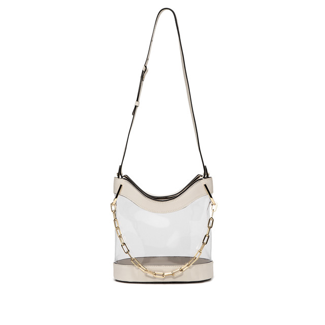 GIANNI CHIARINI: SOPHIA LARGE WHITE BUCKET BAG