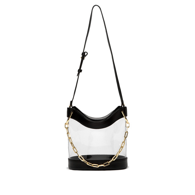 GIANNI CHIARINI: SOPHIA LARGE BLACK BUCKET BAG