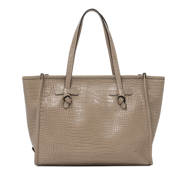 GIANNI CHIARINI: BEIGE MARCELLA MEDIUM SHOPPING