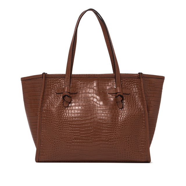GIANNI CHIARINI: BROWN MARCELLA MEDIUM SHOPPING