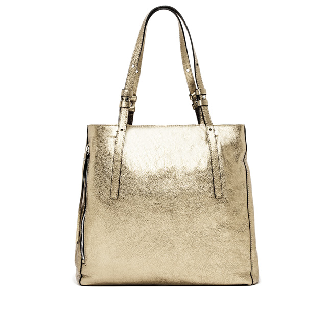 GIANNI CHIARINI TWIN LARGE PLATINUM SHOPPING BAG