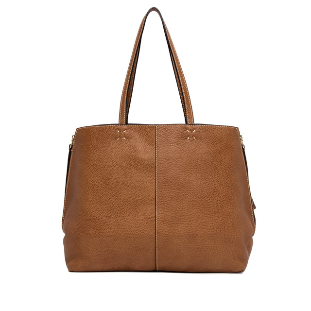 GIANNI CHIARINI LARGE SIZE ANNA SHOPPING BAG COLOR BROWN