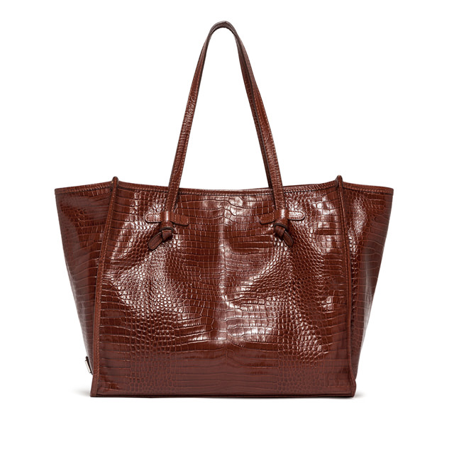 GIANNI CHIARINI BROWN MARCELLA MEDIUM SHOPPING