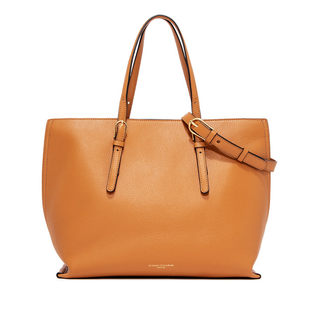 GIANNI CHIARINI LARGE SIZE PATRICIA SHOPPING BAG COLOR ORANGE