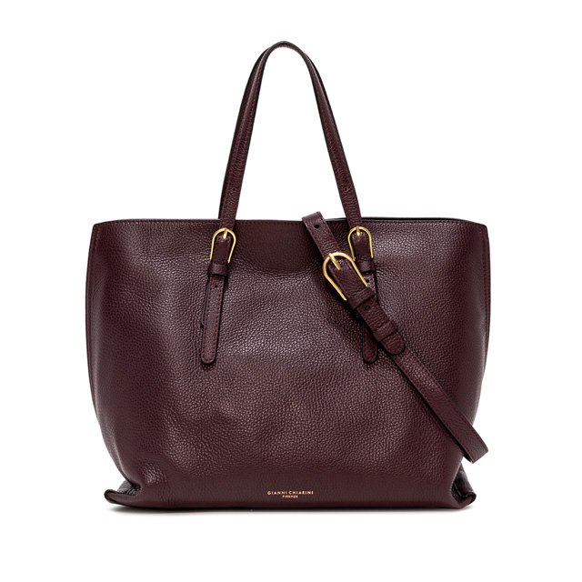 GIANNI CHIARINI LARGE SIZE PATRICIA SHOPPING BAG COLOR BURGUNDY