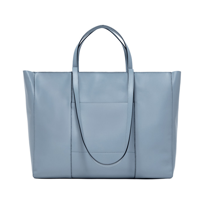 GIANNI CHIARINI: LARGE SIZE SUPERLIGHT ZIP SHOPPING BAG COLOR LIGHT BLUE