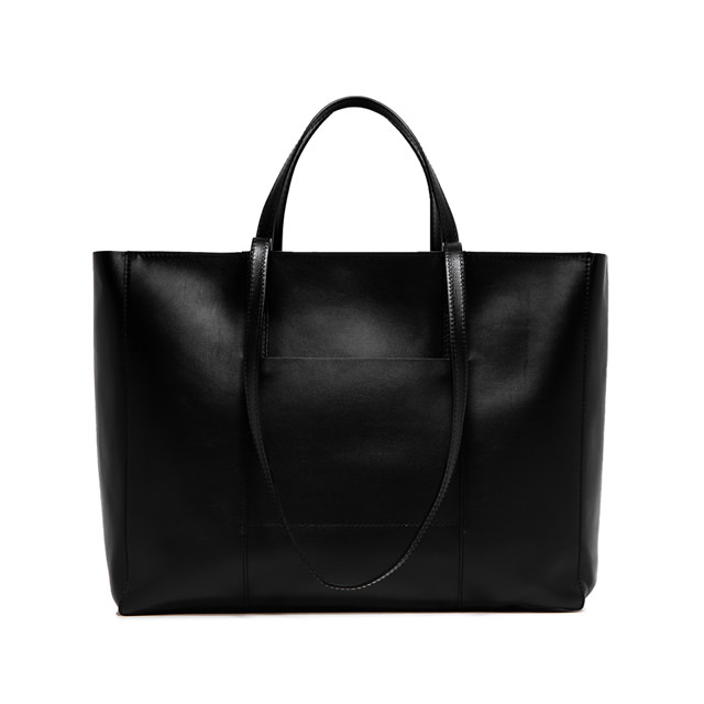 GIANNI CHIARINI: LARGE SIZE SUPERLIGHT ZIP SHOPPING BAG COLOR BLACK