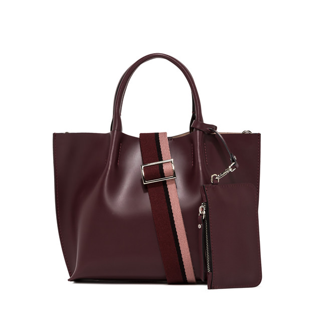 GIANNI CHIARINI MEDIUM SIZE TWENTY BIC SHOPPING BAG COLOR BORDEAUX